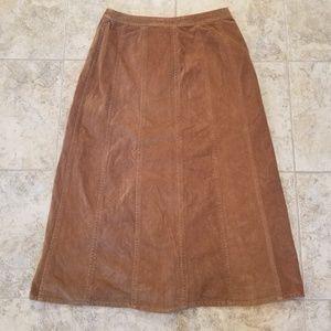 JM Collection Skirts - JM Great Condition Tan Corduroy Maxi Skirt